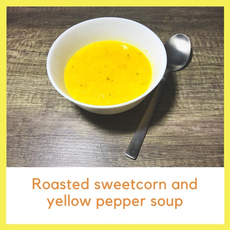 Recipe: Roasted sweetcorn and yellow pepper soup