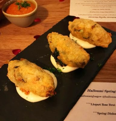 Halloumi Glasgow new spring menu