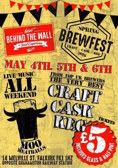 Event: Beer Festival at Behind the Wall, Falkirk
