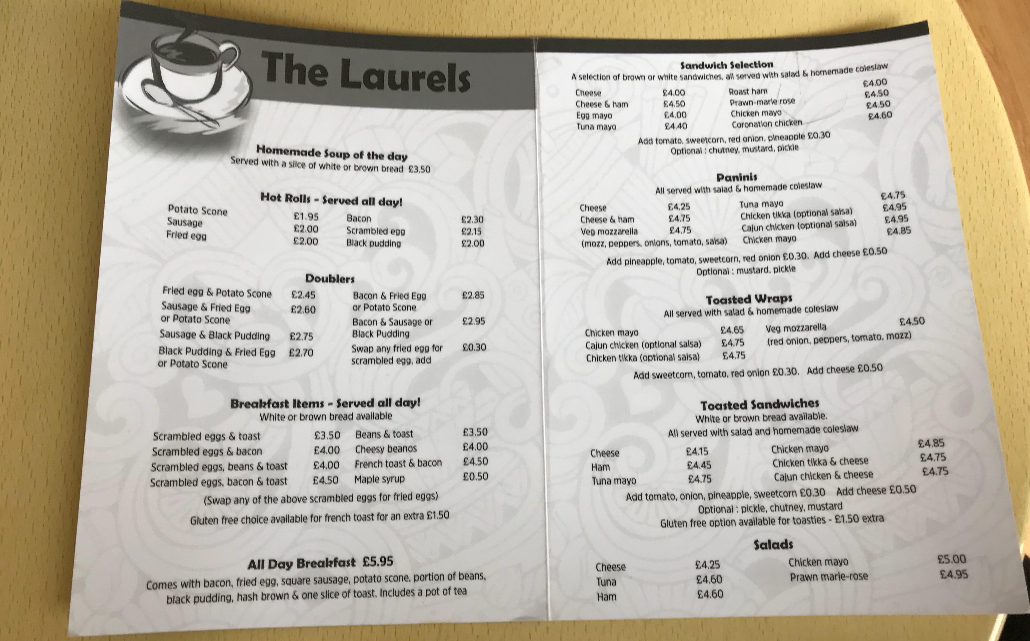 The laurels cafe muirend Glasgow