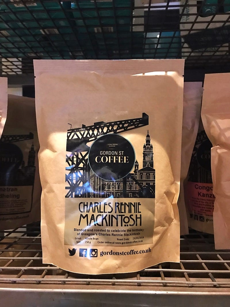 Gordon street coffee Charles Rennie Mackintosh blend birthday