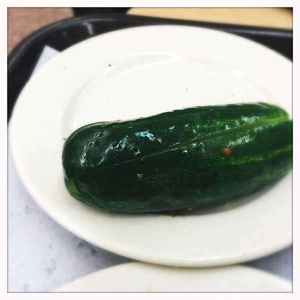Katz's deli NYC - pickle