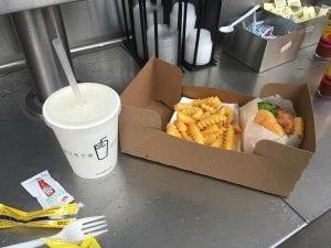 Shake Shack burger meal