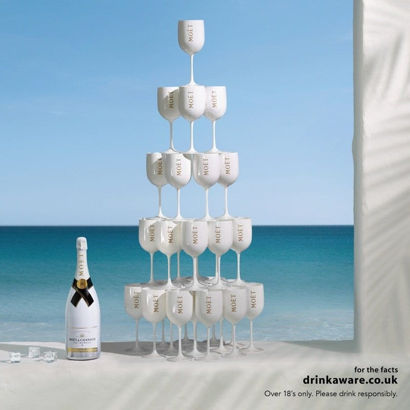 Moet Ice Imperial - stacked glasses