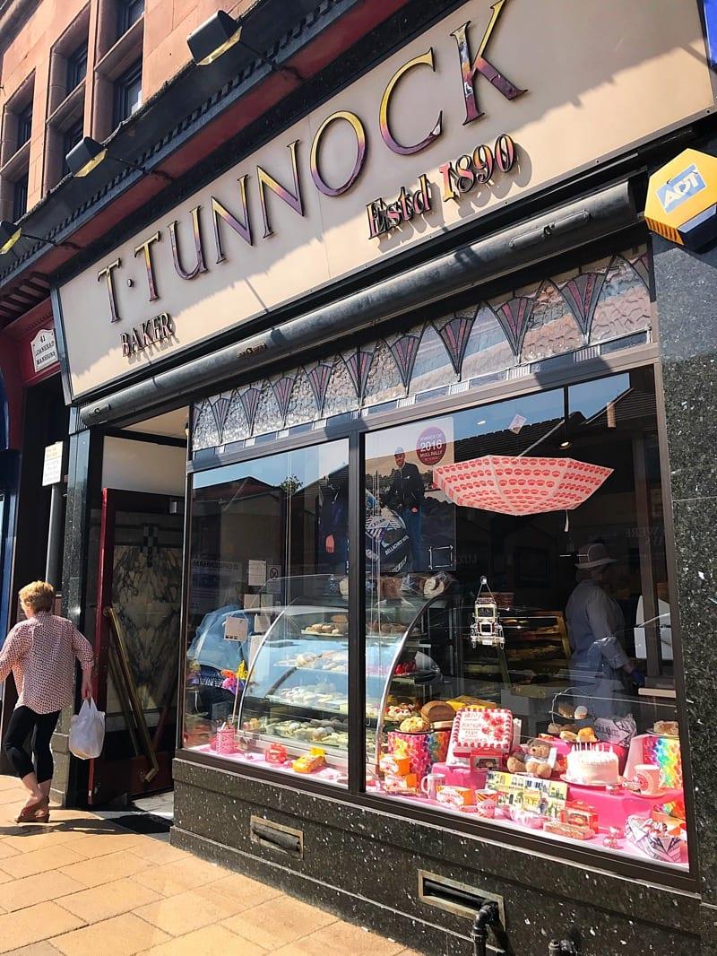Tunnocks uddingston shop front