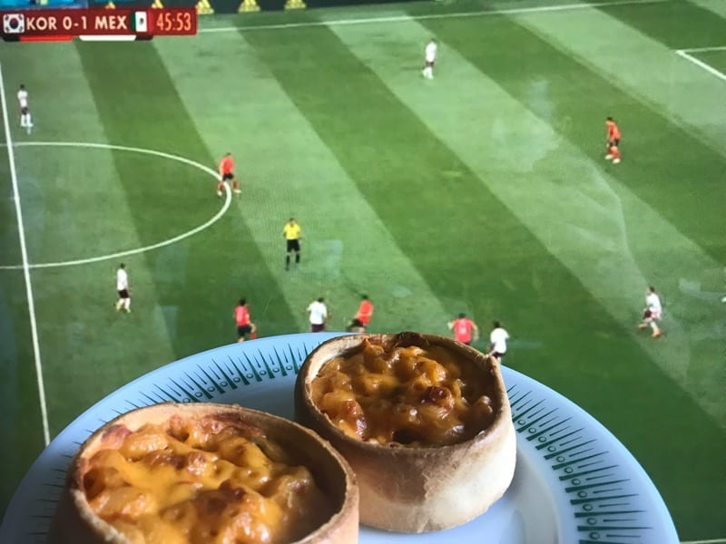 football mexicana cheese half time pies