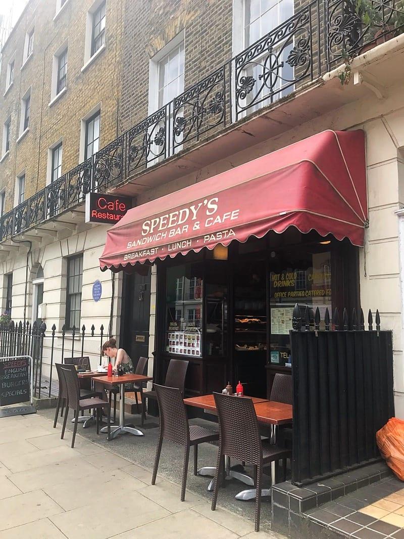 Sherlock Holmes speedys cafe London