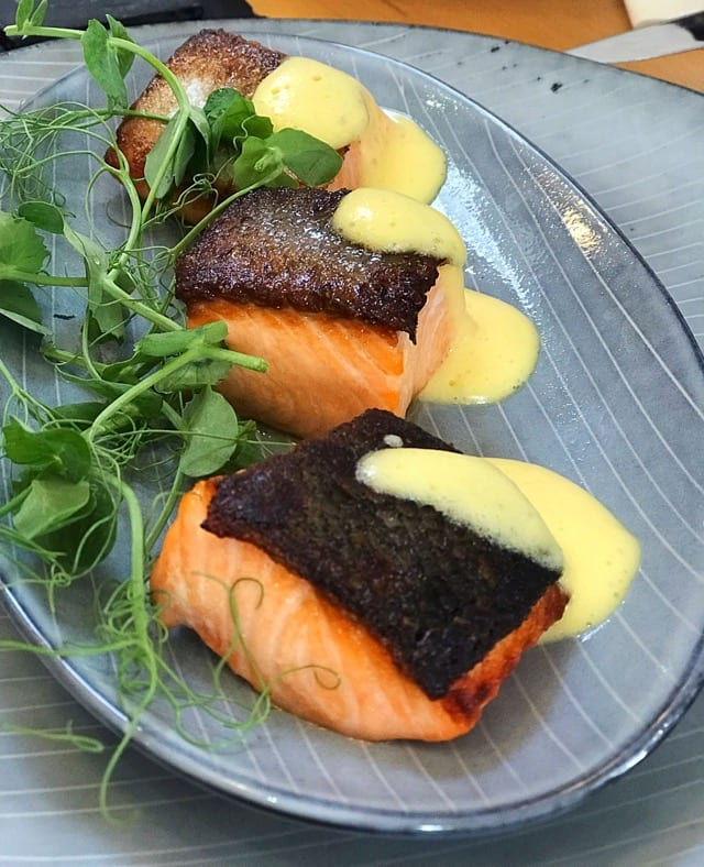 salmon fillets are dry cured with our salt and sugar recipe, then hot smoked and kiln roasted