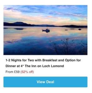 Groupon Loch Lomond deal
