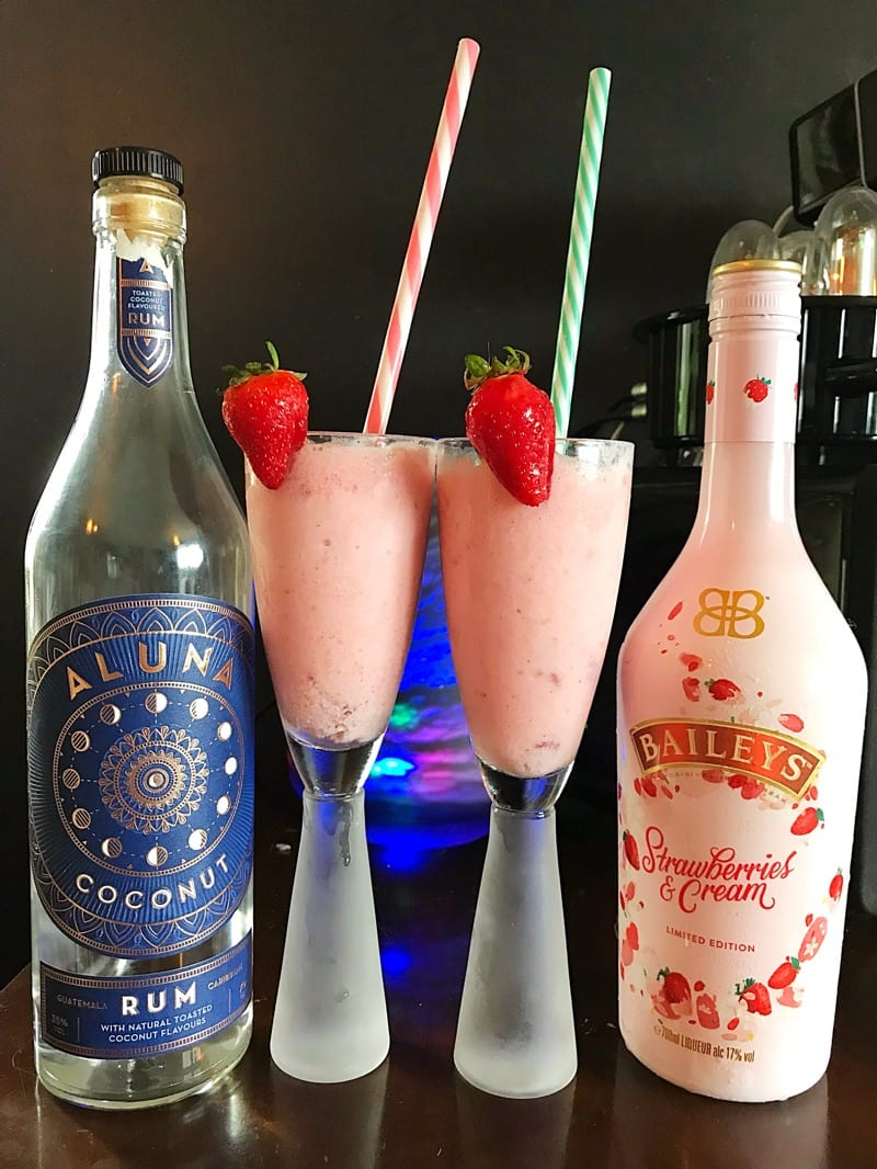 Recipe: Strawberries & Cream Colada