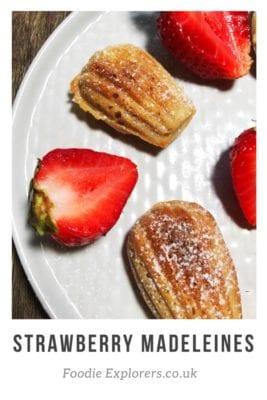 Recipe for strawberry Madeleines