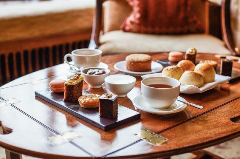 Afternoon tea Gidleigh Park Devon