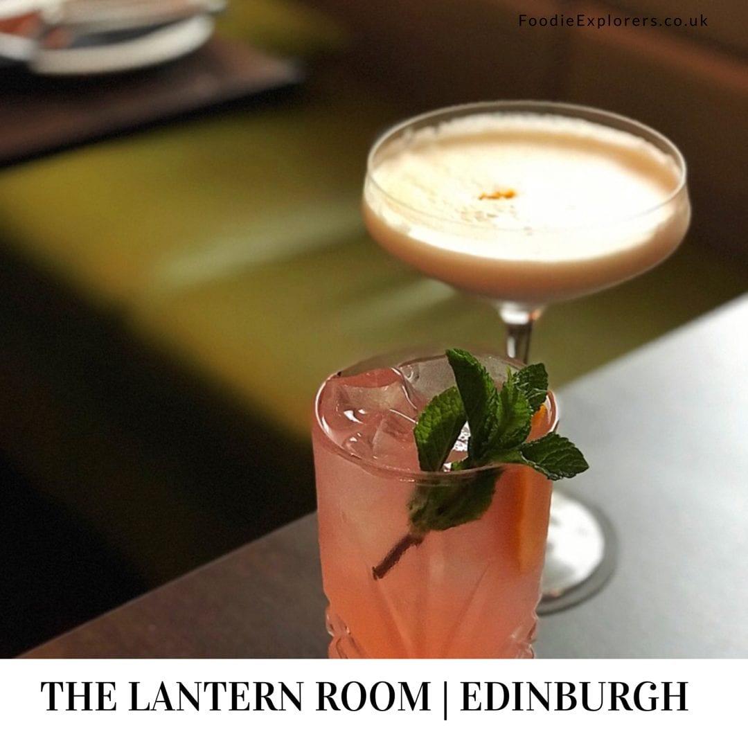 The lantern room Marriott hotel edinburgh foodie Explorers