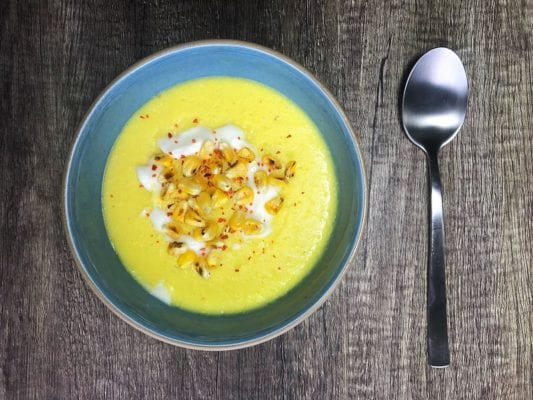 soil association organic september spicy sweetcorn soup recipe foodie explorers