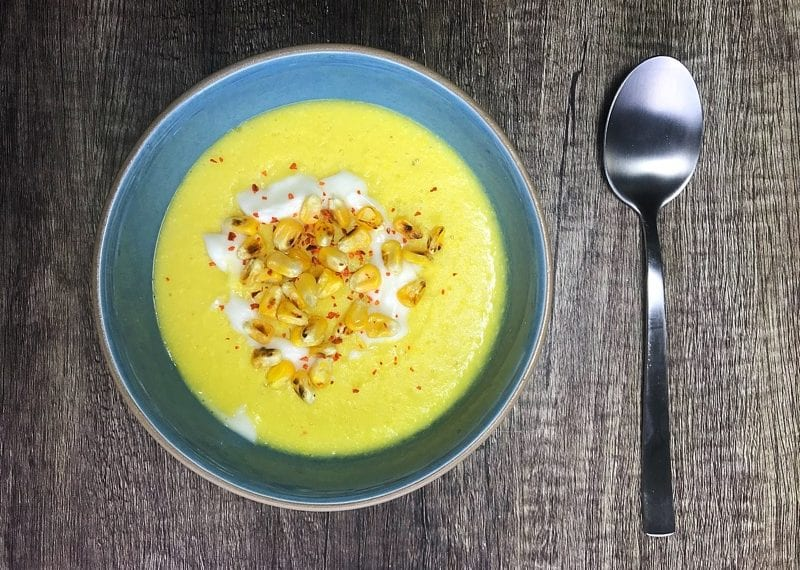 soil association organic september spicy sweetcorn soup recipe foodie explorers