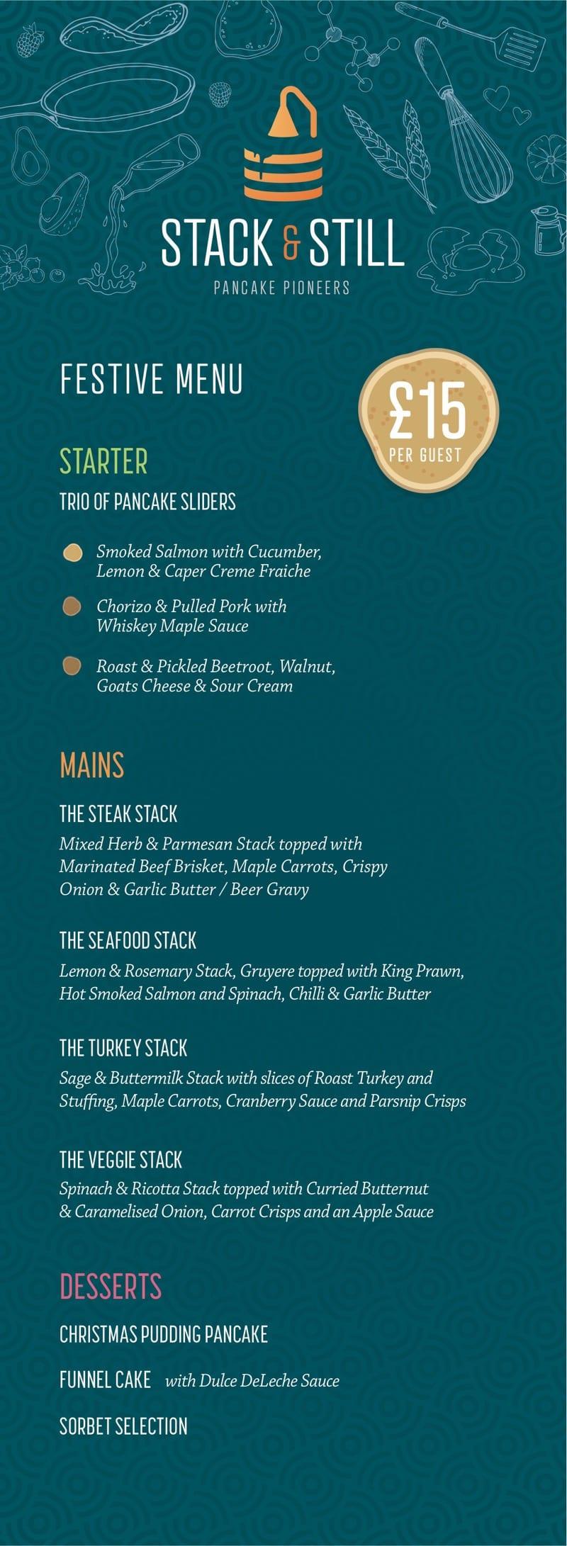 Stack and still Glasgow pancakes menu