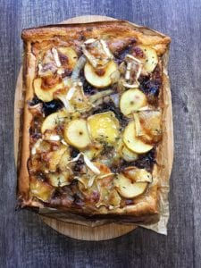 Brie Apple and onion tart recipe foodie explorers