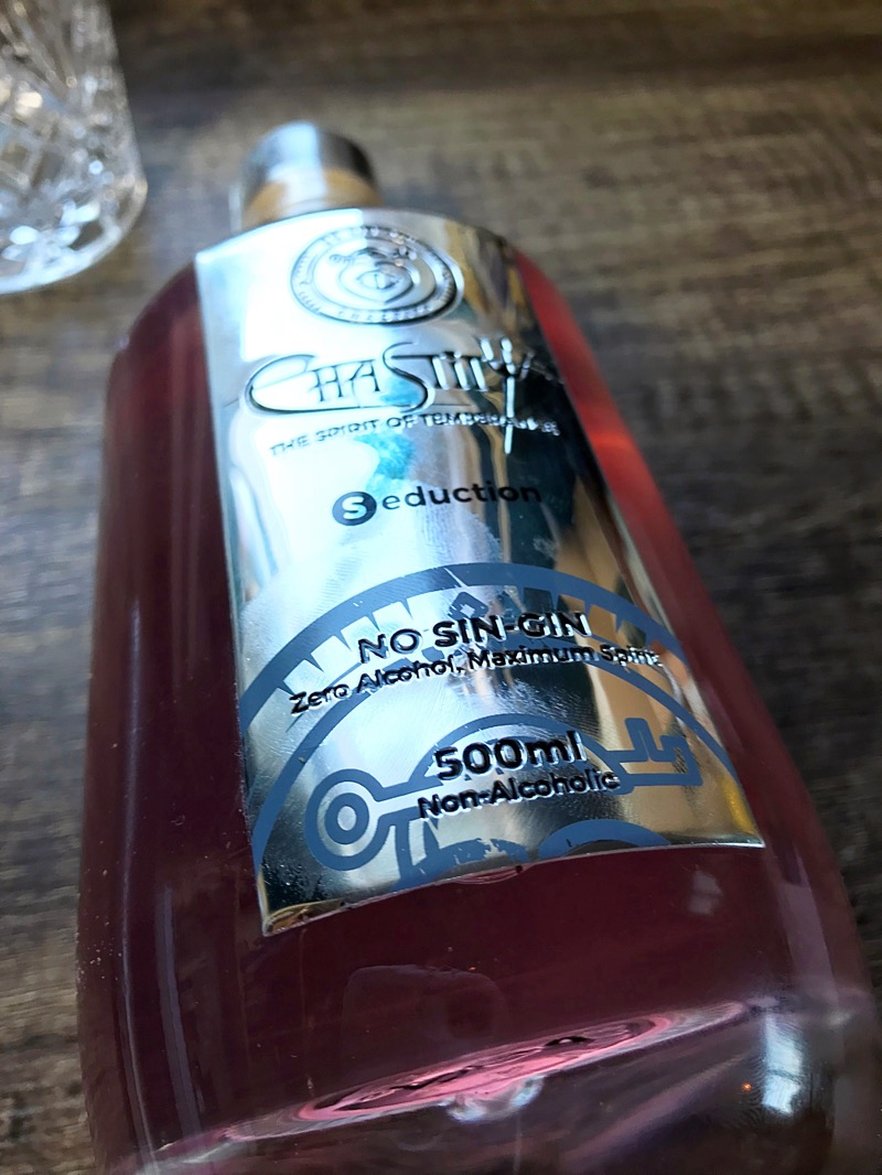 Chastity alcohol free gin Seduction review foodie explorers