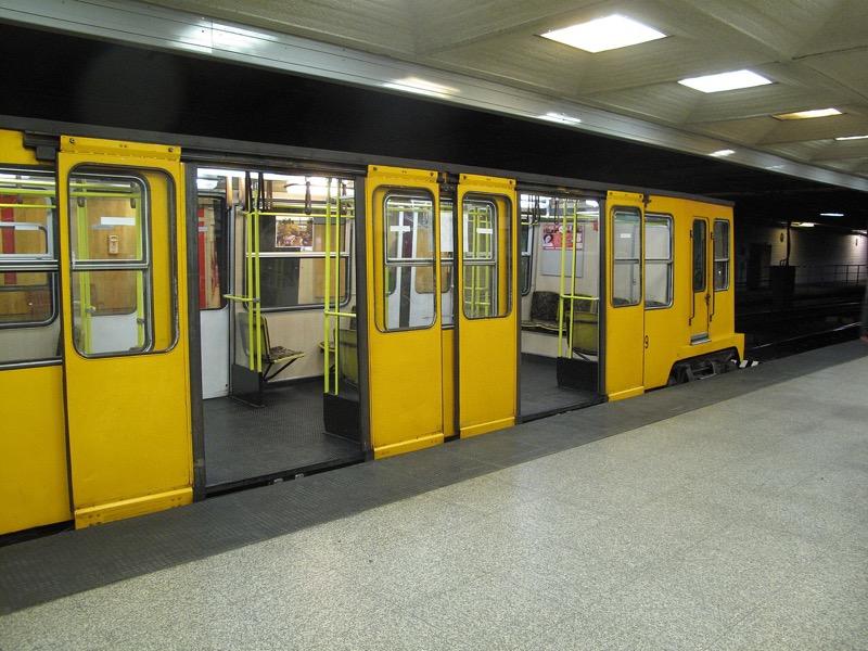 Metro line 1 carriage Budapest Underground