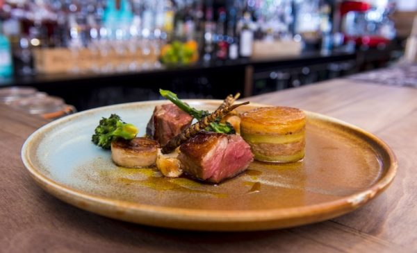 The Gannet's Scotch Lamb rump, shoulder and belly with Jerusalem artichoke, potato, purple sprouting broccoli and cumin sauce