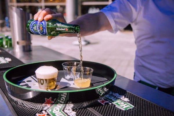 club soda alcohol free heineken festival