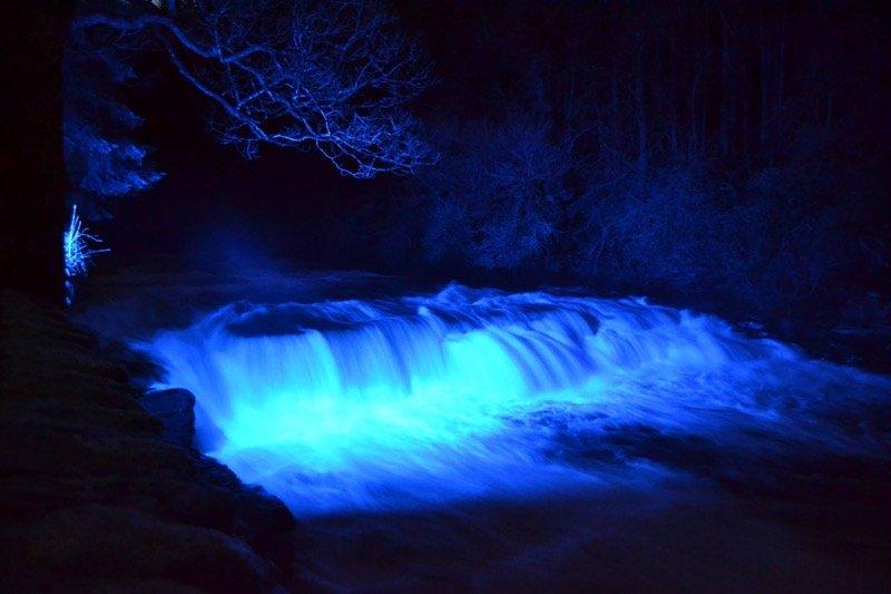 News: New Lanark lights up for St Andrews Day