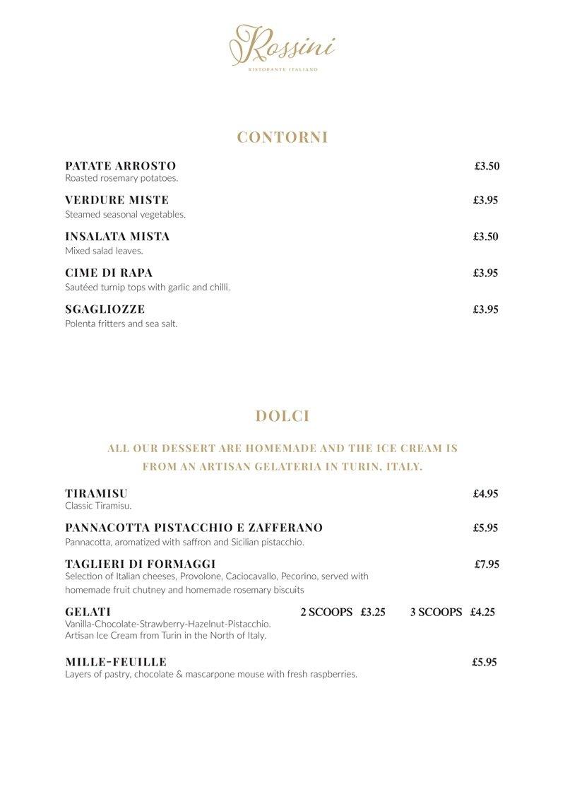 menu rossini patick west end glasgow italian