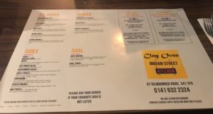 Clay oven Shawlands Glasgow foodie Explorers
