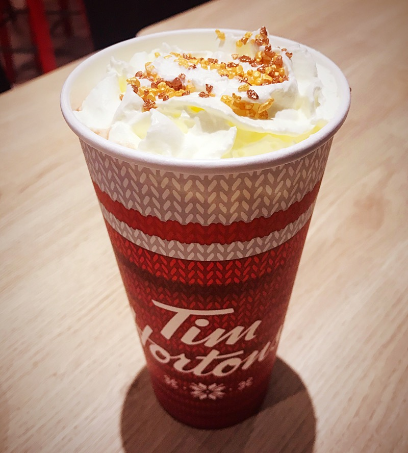 Christmas hot drinks and treats on the High Street
