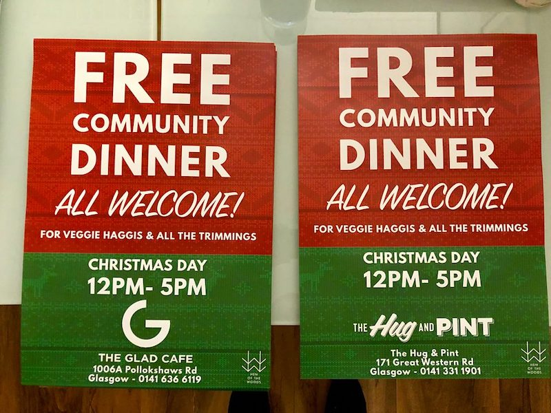 Free community dinners this Christmas Day