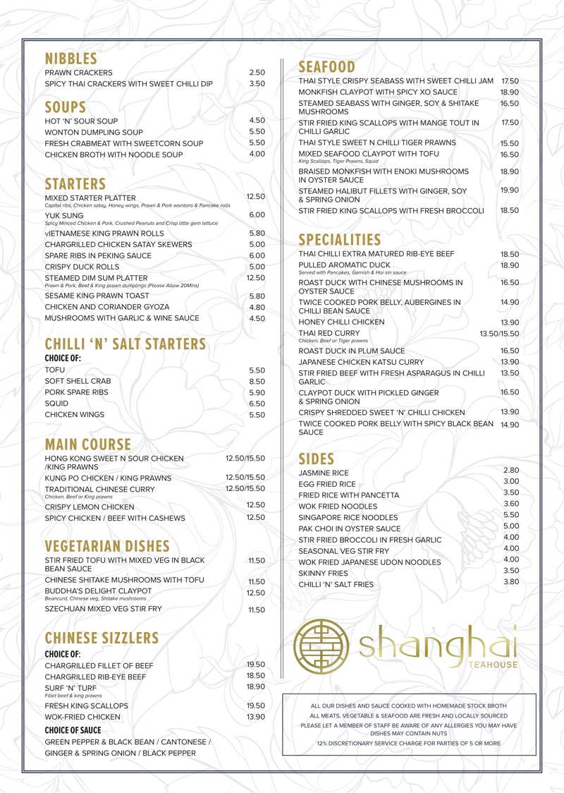 Shanghai Teahouse Bothwell chef jimmy lee