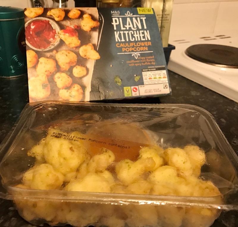 M&S popcorn cauliflower vegan product review
