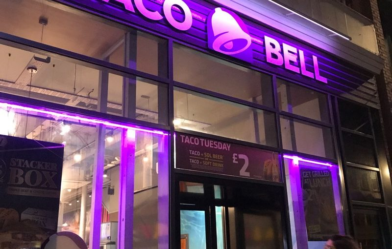 Taco Bell Glasgow big bell box review