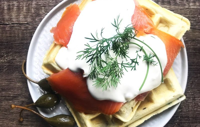 Recipe: Smoked Salmon and Waffles