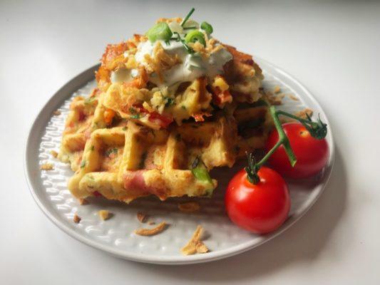 cheesy leftover mashed potato waffles recipe