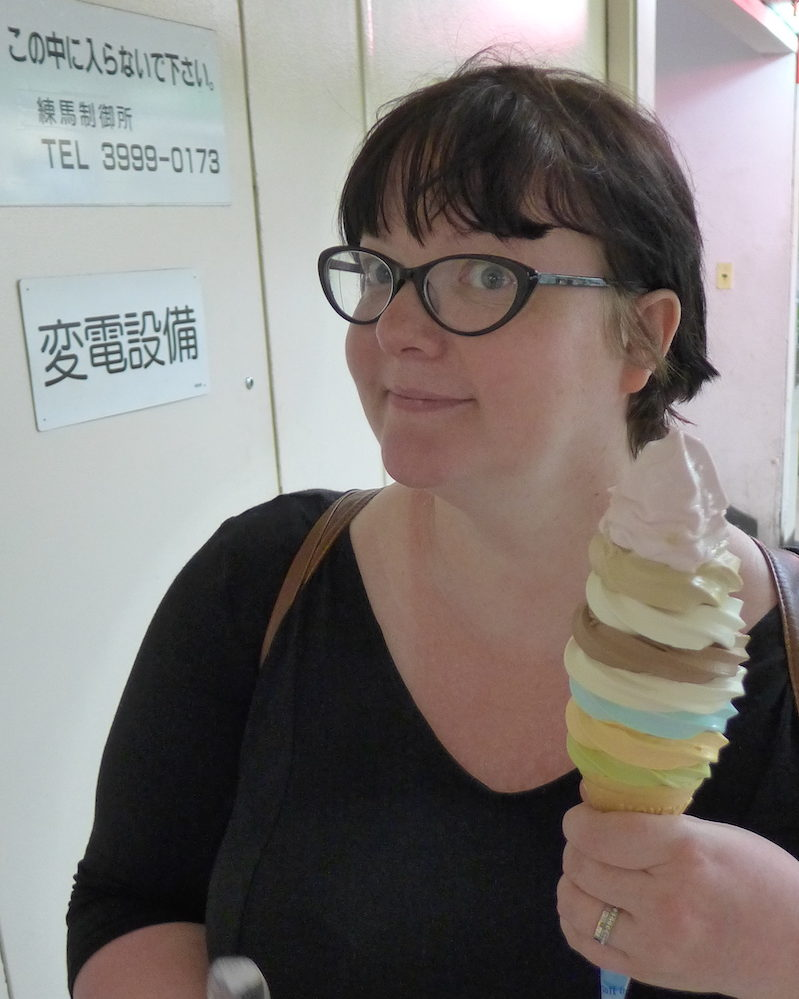Mrs Foodie with cone