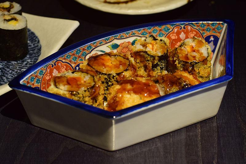 Panko-Coated salmon maki