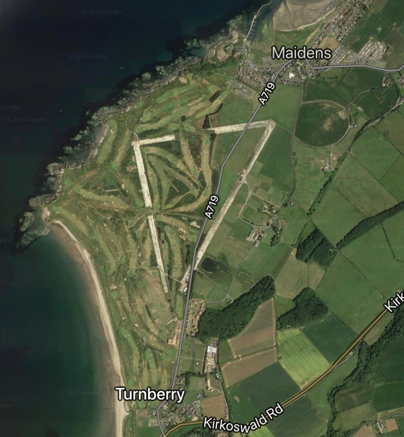 Trump Turnberry airfield from above