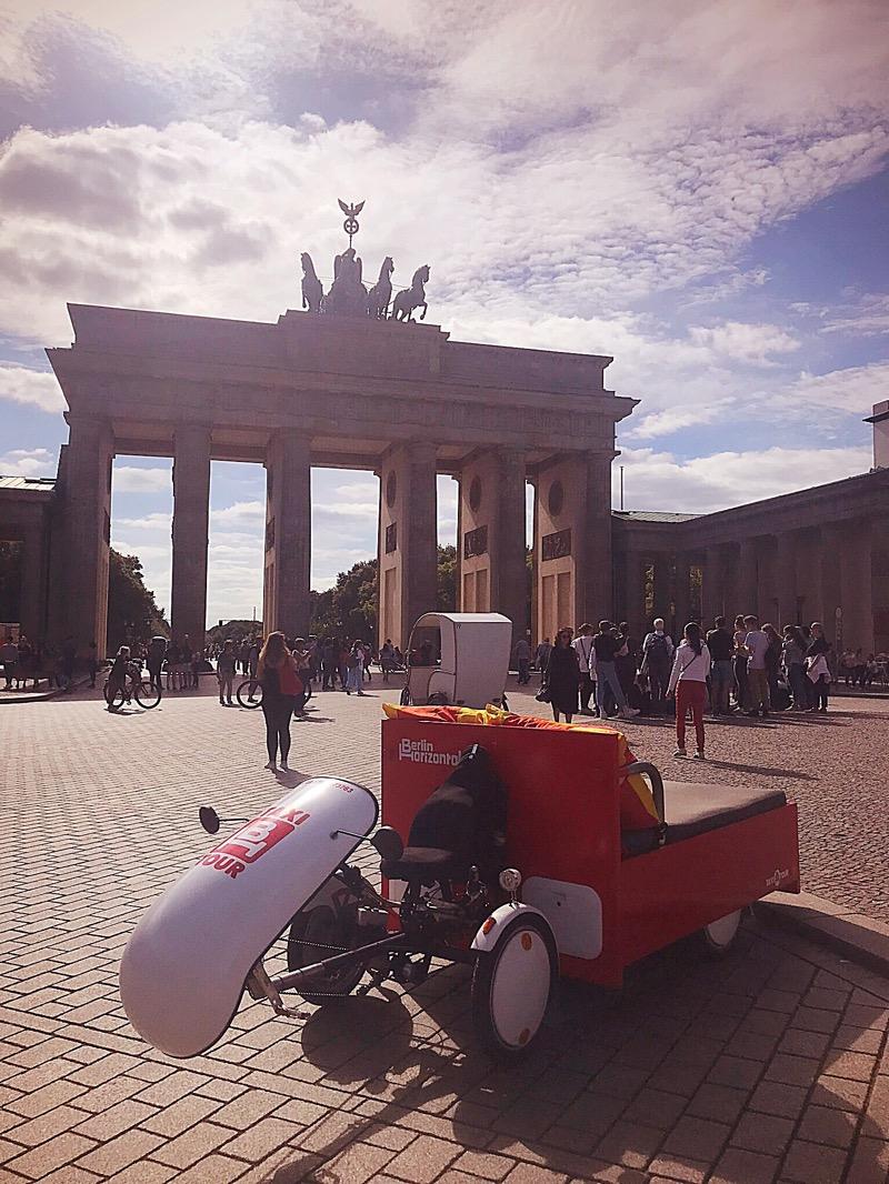 Berlin Horizontal Berlin sightseeing by bed bike