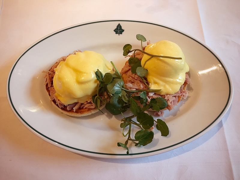 The Ivy Glasgow brunch Eggs Benedict