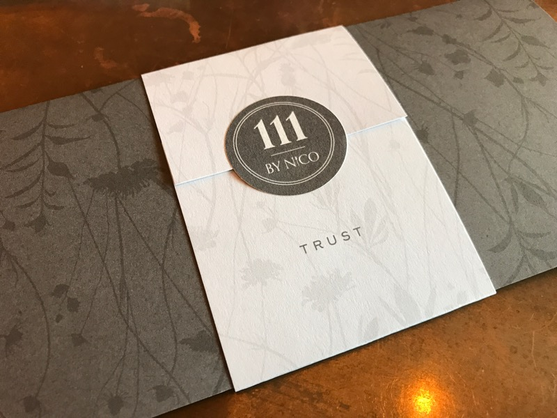 111 by Nico ten course tasting menu Glasgow