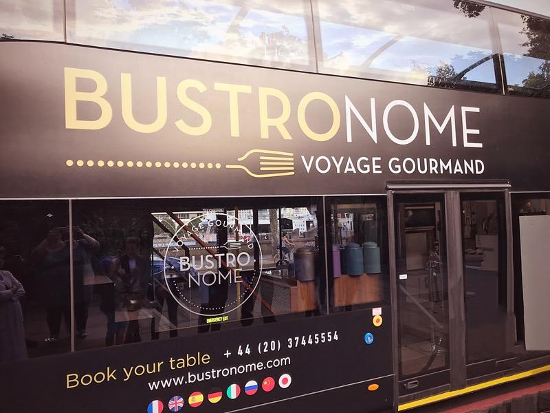 Bustronome gastronomic bus tour of London