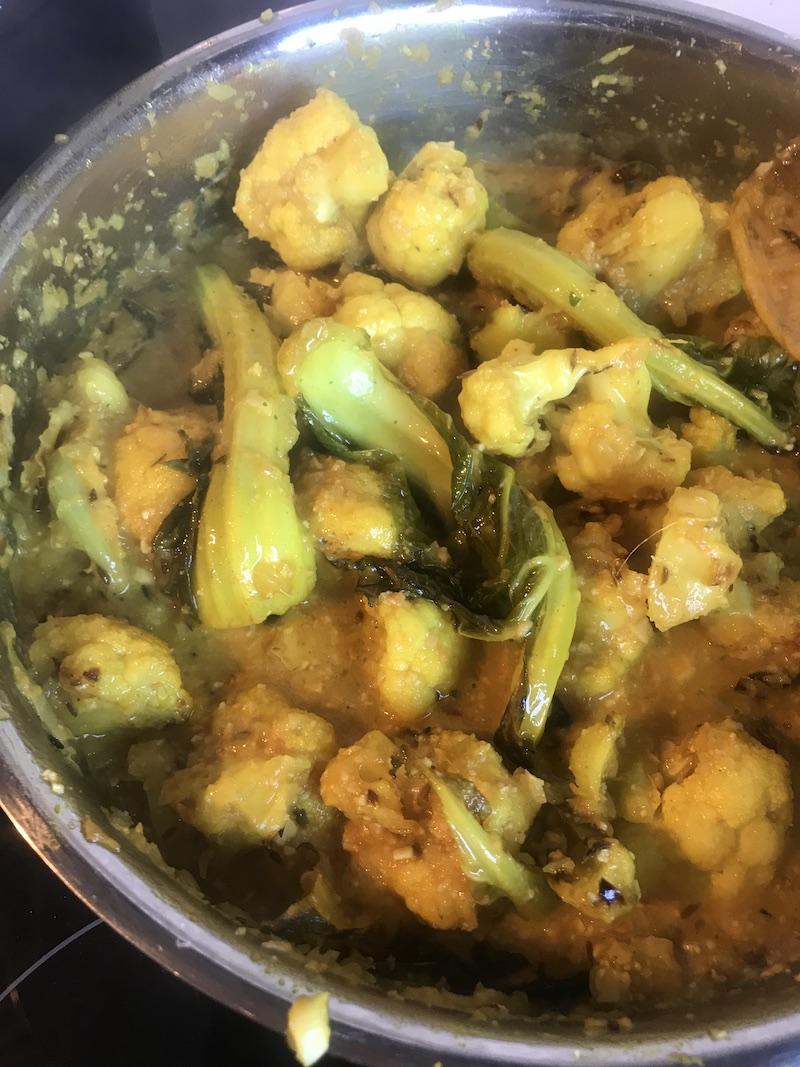 cauliflower korma recipe