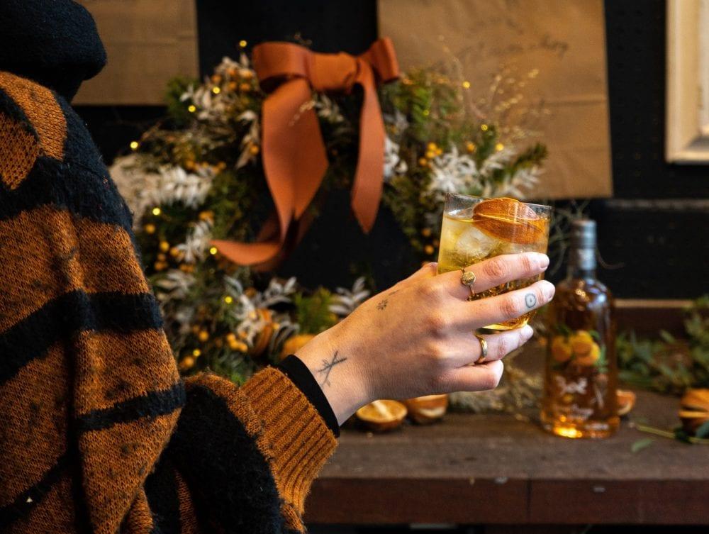 boe gin christmas wreath