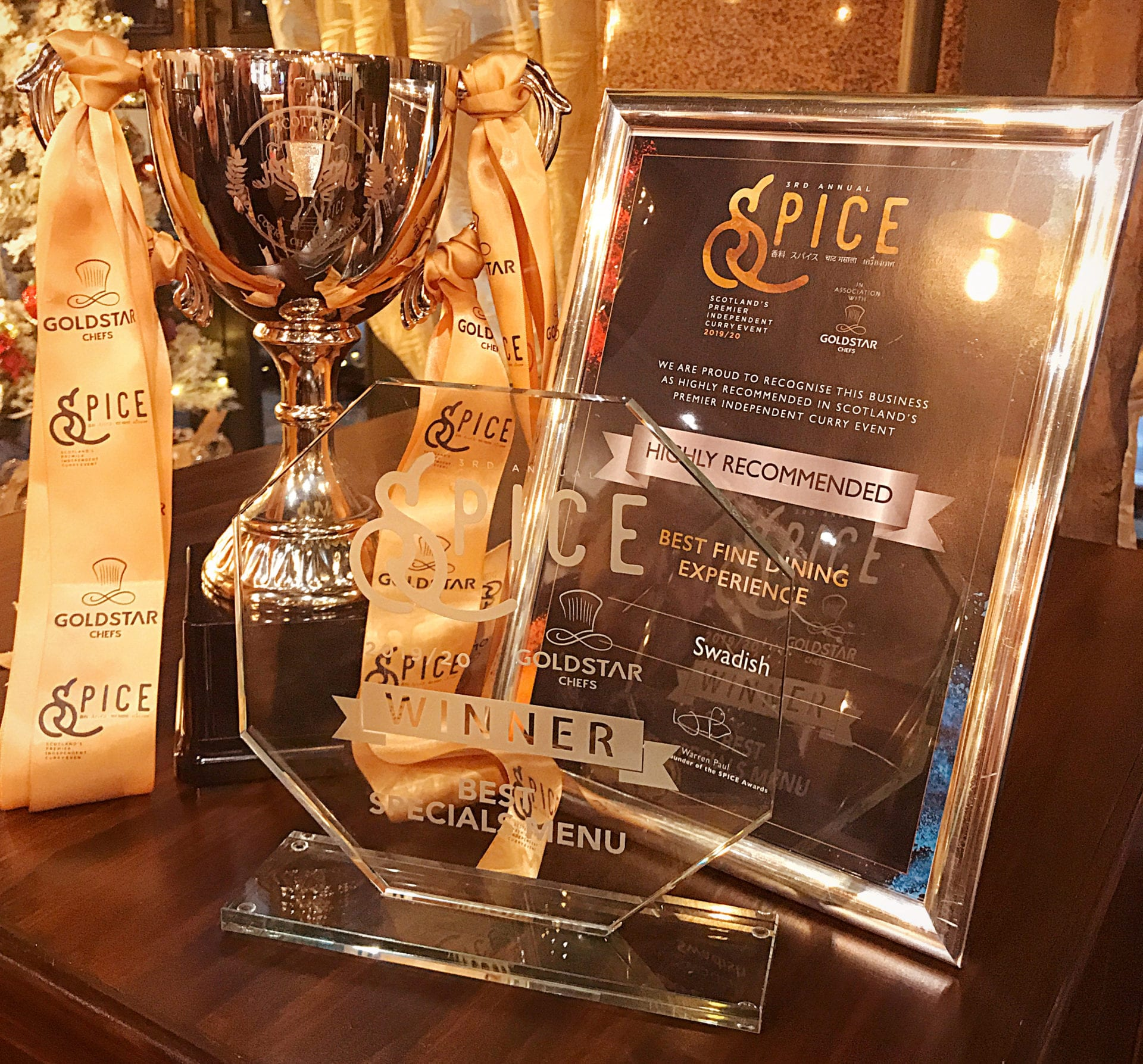 Swadish spice awards Glasgow