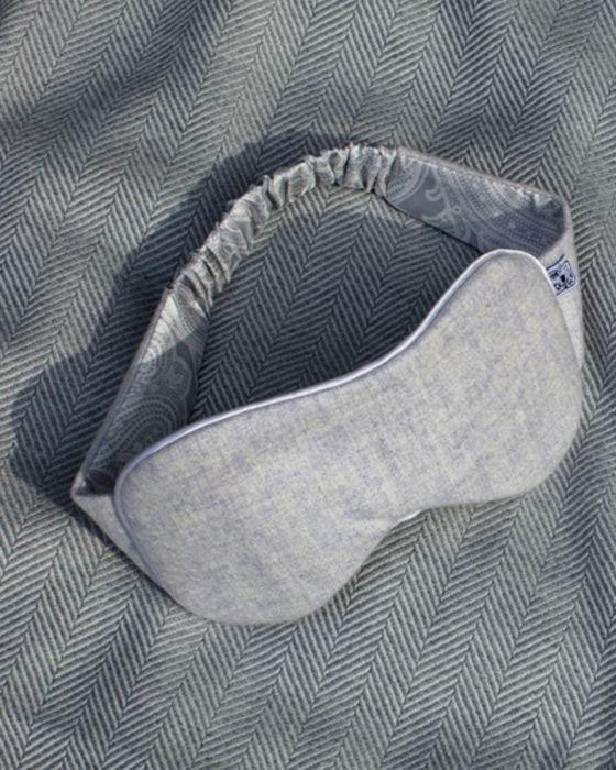 silk lined cashmere eye mask