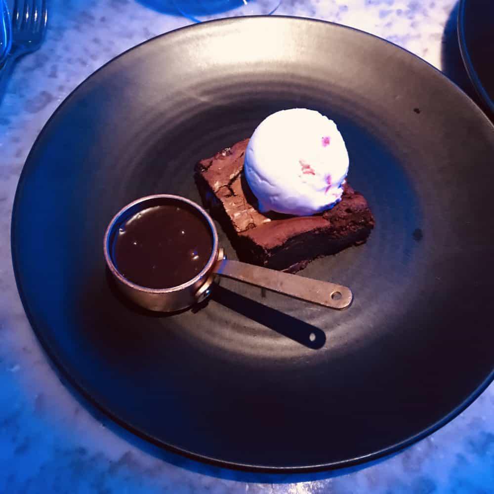 Alston bar and beef Glasgow Dessert chocolate brownie
