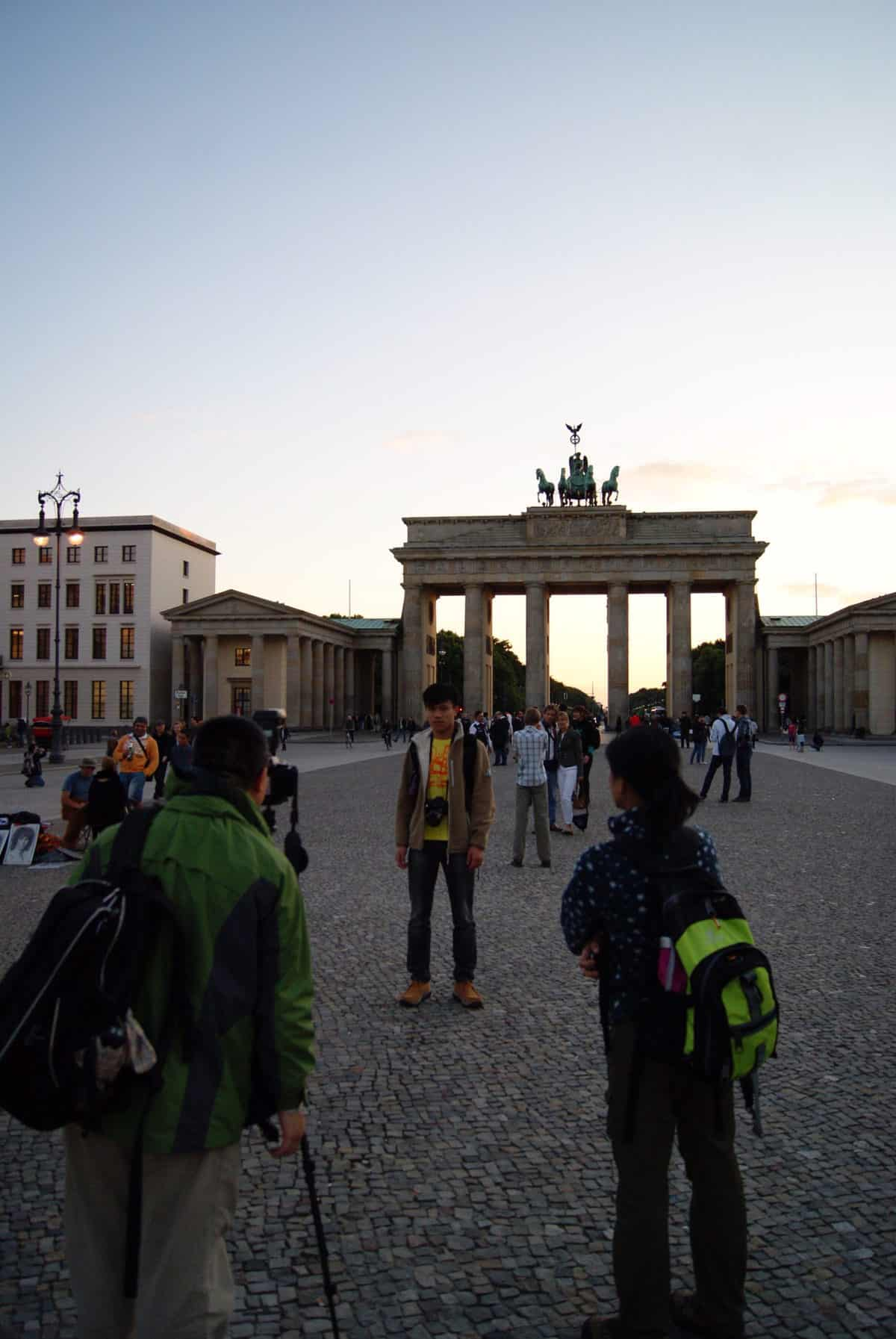 brandenburg gate from East Berlin