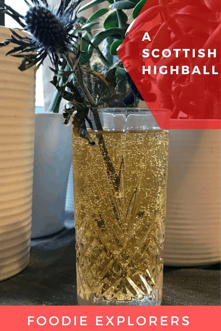 johnnie walker black label scottish highball cocktail