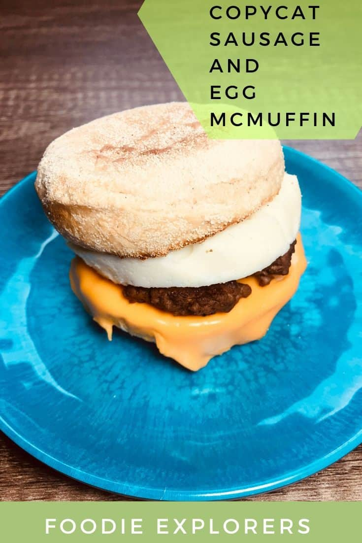 Copycat sausage and egg McMuffin